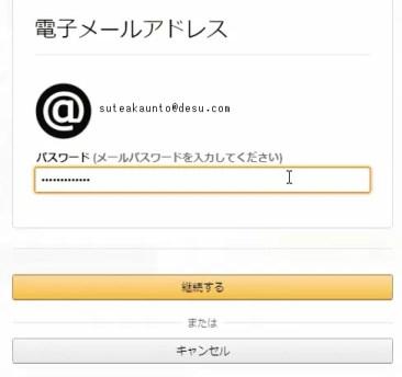 クレジットカード情報を適当に入力すると電子メールアドレスの設定ページに移動するので適当に入力します。