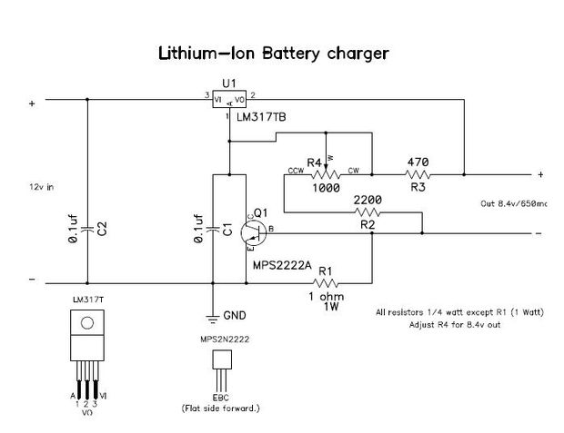 Lithium Solar Ladeschaltung