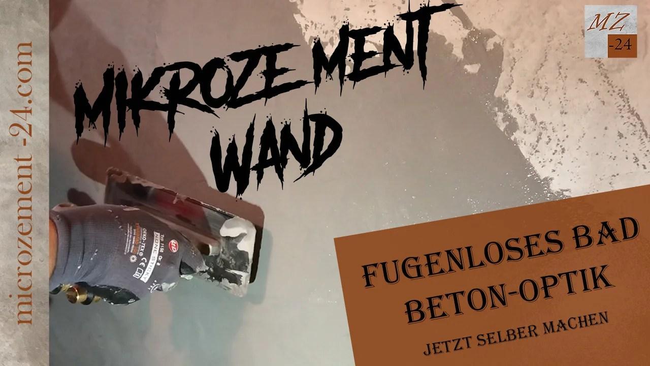 Mikrozement Wand_Fugenloses Bad_Betonoptik_Spachteltechnik