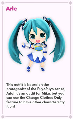 Outfits Hatsune Miku Project Mirai Dx