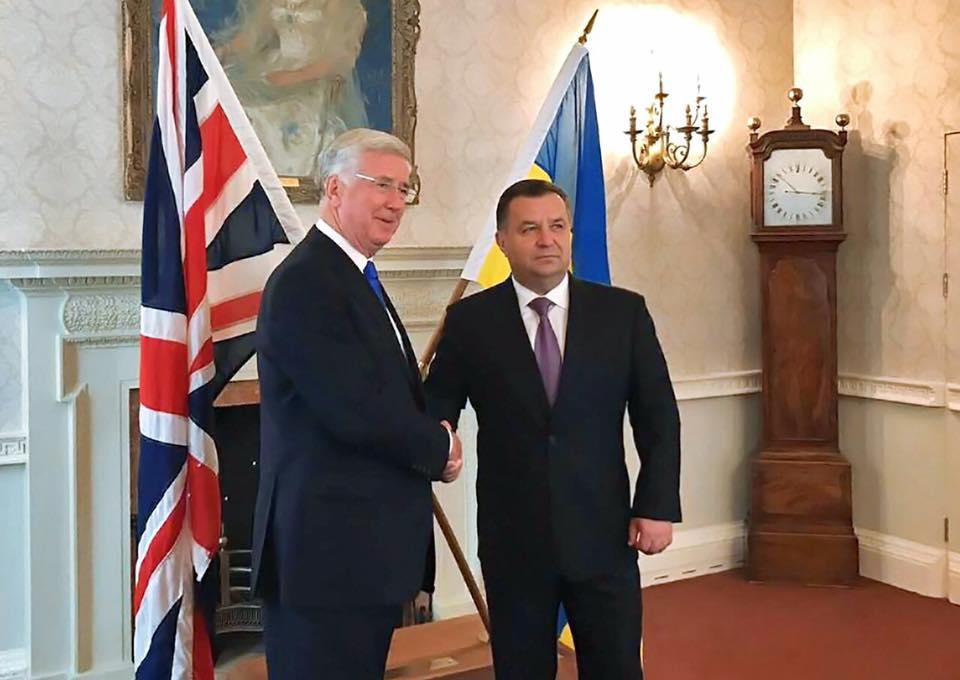 Відбулась зустріч міністрів оборони України та Великої Британії