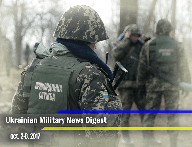 Ukrainian Military News Digest for oct. 2-8, 2017