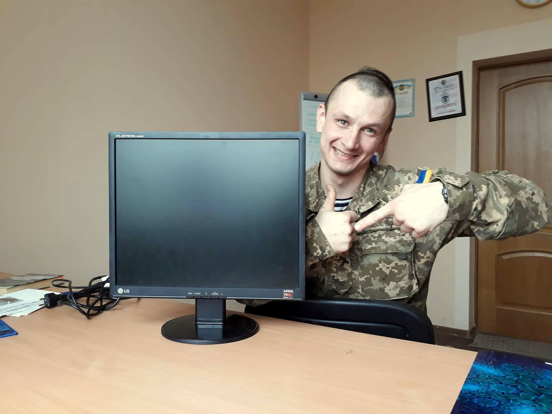 Завдяки Олексій Дзюба закрили монітор для потреб 203 Центру підготовки сержантів ВМС