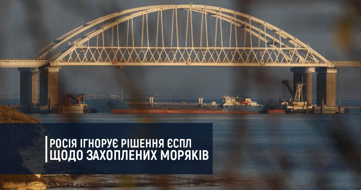 Росія ігнорує рішення Європейського суду з прав людини щодо захоплених моряків ВМС ЗС України