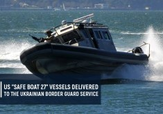 "US ""Safe Boat 27"" vessels delivered to the Ukrainian Border Guard Service"