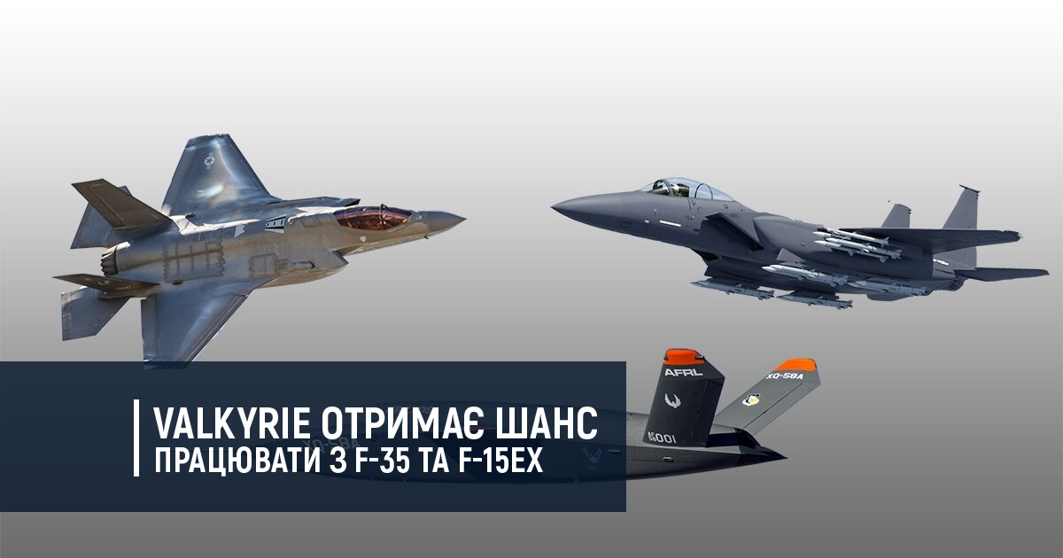 Valkyrie отримає шанс працювати з F-35 та F-15EX