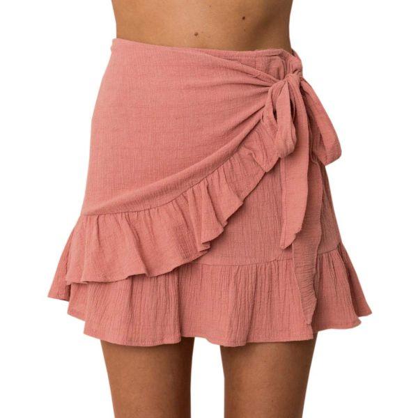SySea – Womens Floral A Line Mini Skirts Wrap Pleated Ruffle Hem Cute Beach Short Skirts – Walmart_com (1)
