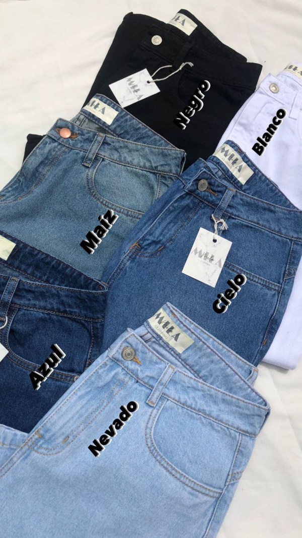 Tonalidades Mom jeans