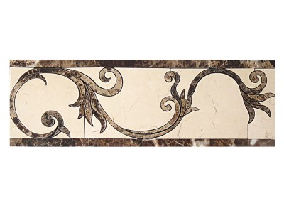 Border DS261-8 (Crema Honed and Emperador Light and Dark Marble)