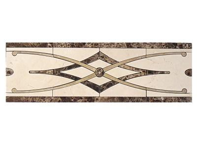 Border DS264-8 (Crema-emperador-labrador gold marble)