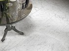 Clean white flooring made from Bianco Carrara Marble