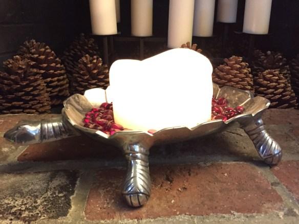The Christmas Tortoise candle holder makes me giggle.
