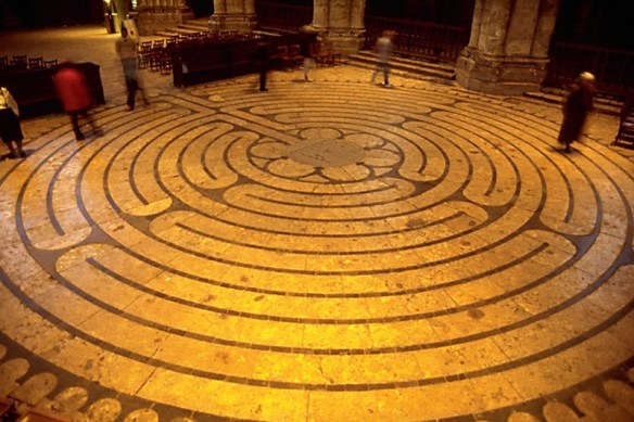 The labyrinth at Chartres Cathedral, France