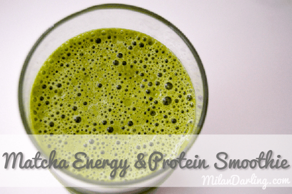Matcha Energy and Protein Breakfast Smoothie