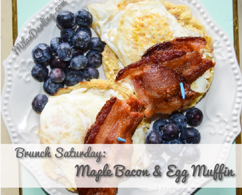 Saturday Brunch: Maple Bacon & Egg Muffin