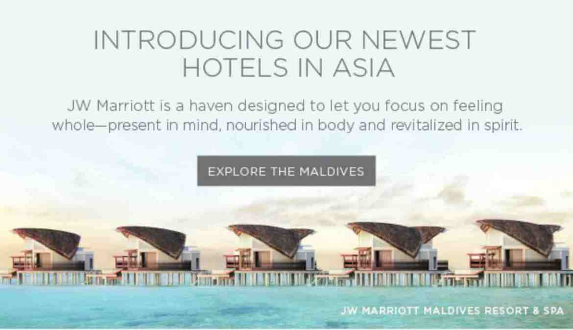 Indulge yourself at Marriott Maldives