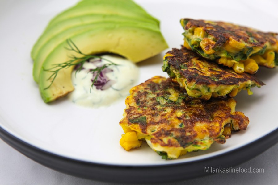 Home Made Corn & Zucchini Fritters