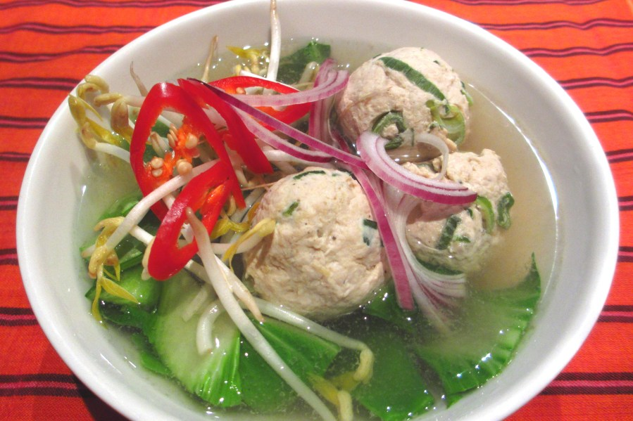 Asian Inspired Chicken Ball Soup