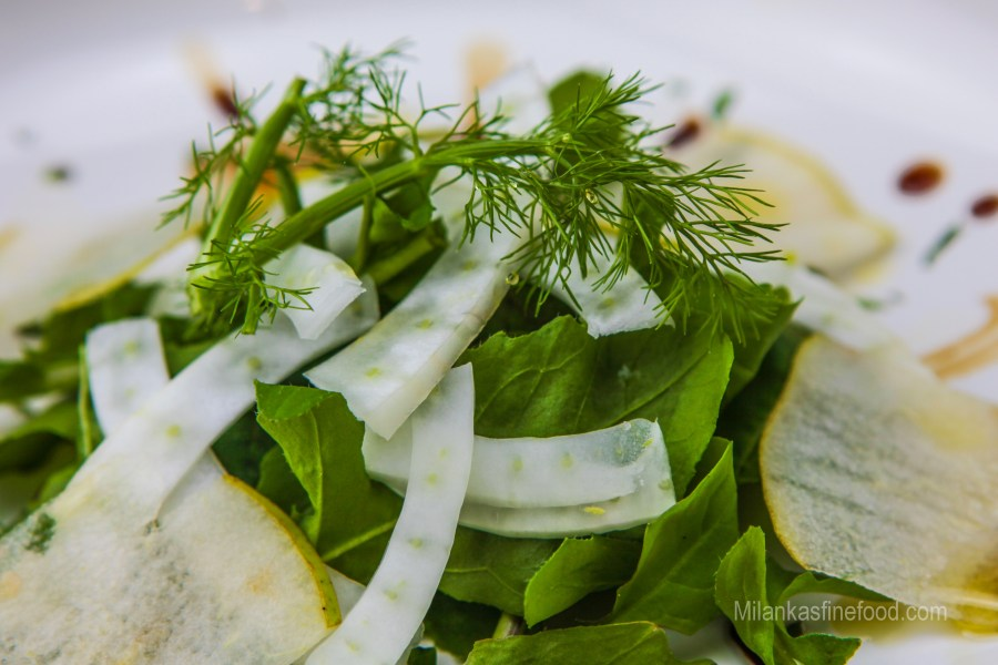 Rocket, Pear & Fennel Salad (Arugula)
