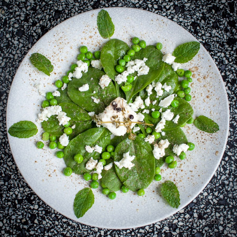 Spinach, Peas & Mint Salad