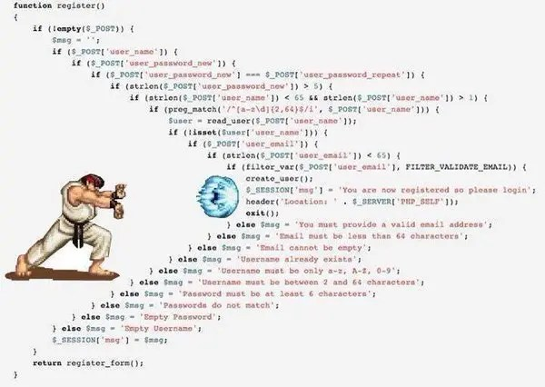 Code Quality Best Practices, pyramid of doom