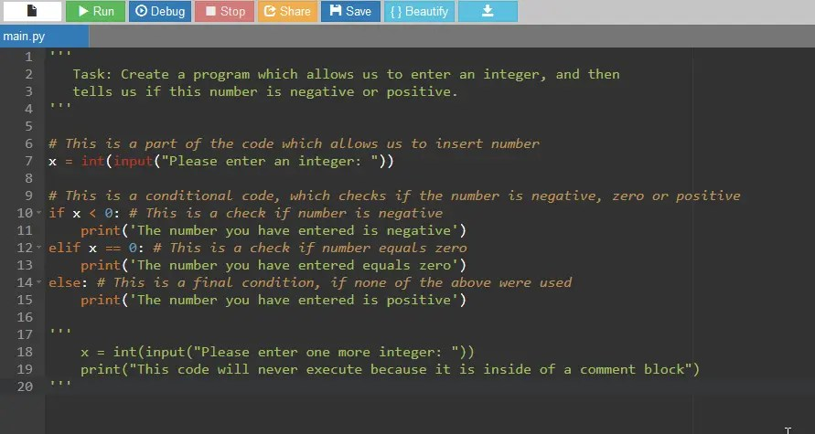 Python comments example