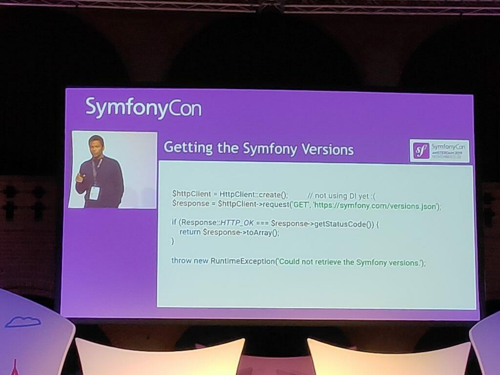 SymfonyCon 2019 - symfony versions