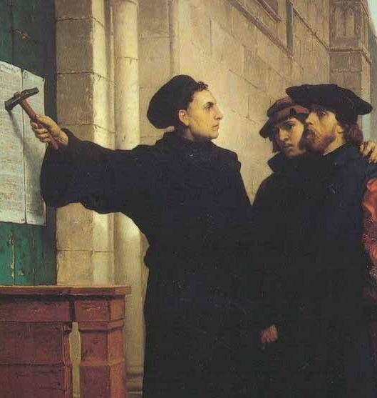 Martin Lutero affigge le sue 95 tesi
