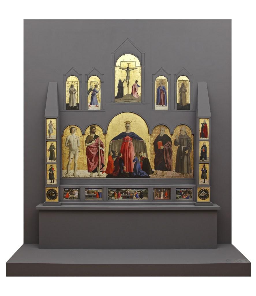 Il Polittico della Misericordia - dal sito del Museo Civico di Sansepolcro