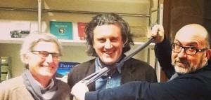 Marco Videtta, Antonio Manzini e Sandrone Dazier al festival NebbiaGialla 2014