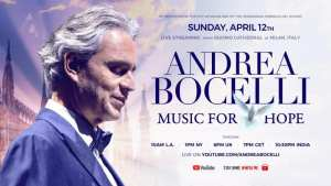 Andrea Bocelli Easter Concert Live from Milan Duomo