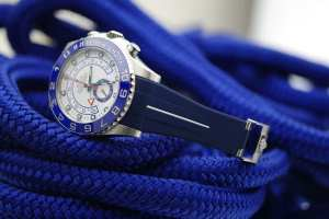 Rubber B Strap for Rolex Yachtmaster II 44mm