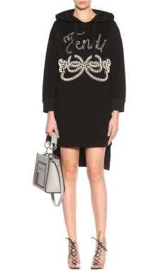 трикотажное платье Fendi