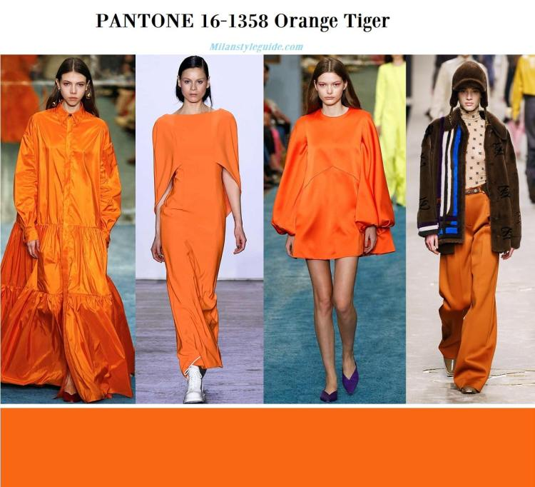 Orange Tiger Pantone 16-1358 fall winter 2019 2020