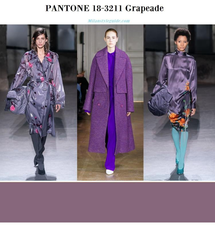 PANTONE 18-3211 Grapeade fall winter 2019 2020