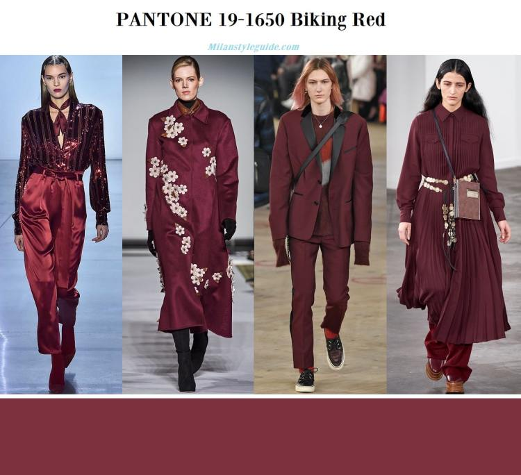 Pantone 19-1650 Biking Red fall winter 2019 2020