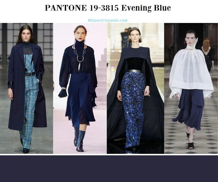 Pantone 19-3815 Evening Blue fall winter 2019 2020