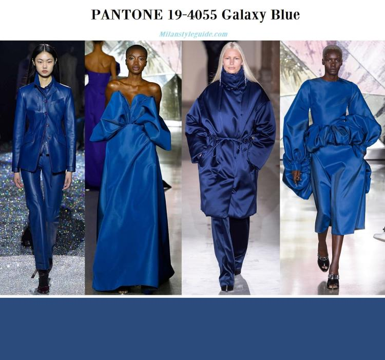 Pantone 19-4055 Galaxy Blue fall winter 2019 2020