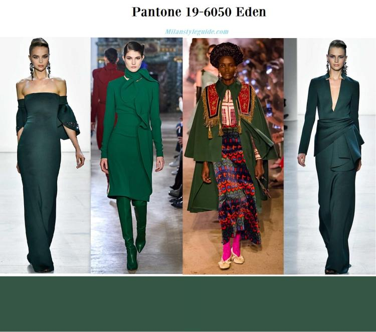 Pantone 19-6050 Eden fall winter 2019 2020