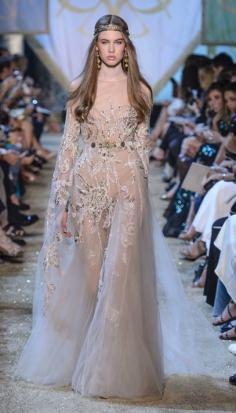 шикарное Свадебное платье Elie Saab Haute Couture осень-зима 2018