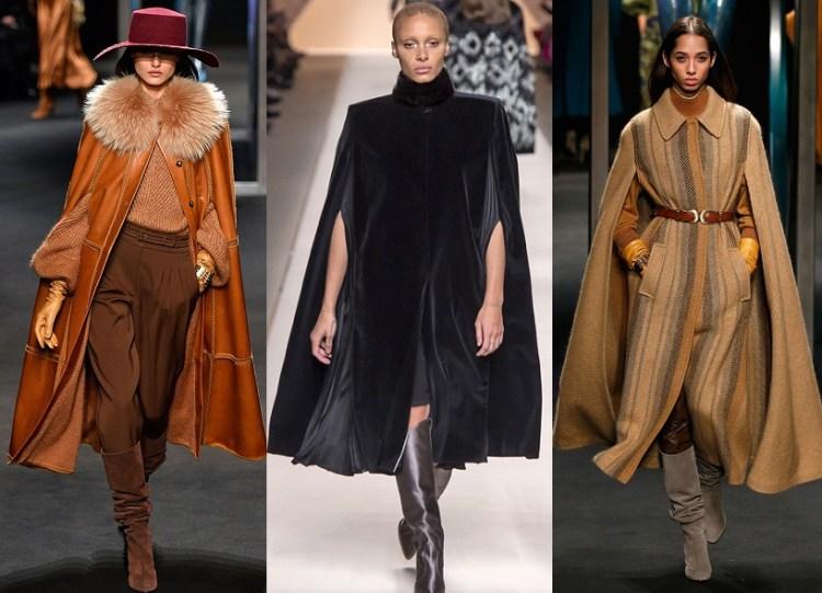 модные модели пальто осень 2018 - кейп
