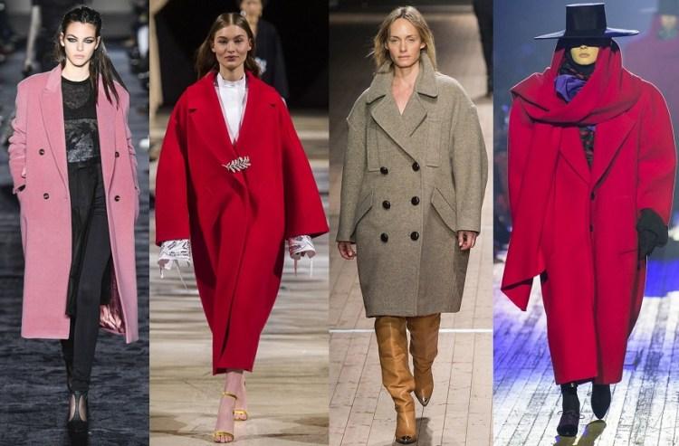 тренд пальто oversize мода осень 2018