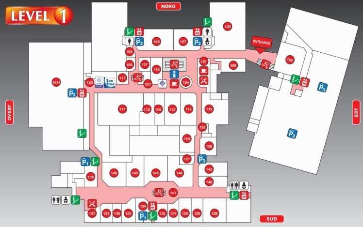 карта аутлета Фокс Таун первый этаж