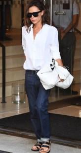 Victoria Beckham white shirt