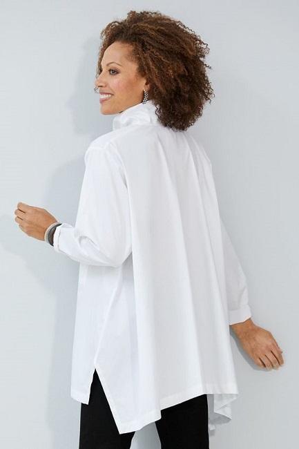 как можно выбрать хорошую базовую белую рубашку - длинная белая рубашка