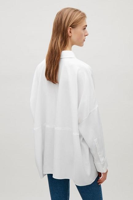 как можно модно носить длинная белая рубашка oversize