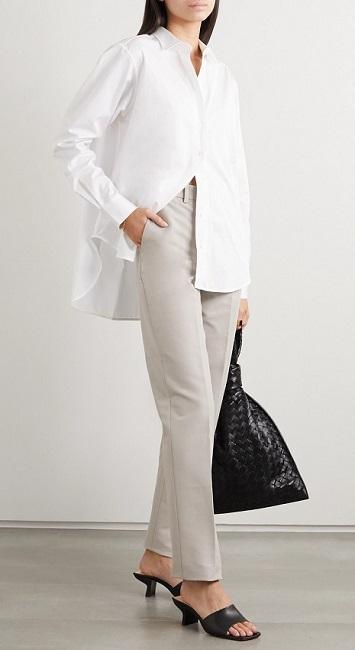 белая урубашка как стильно носить на работу