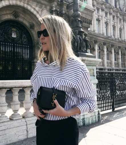 модная бело-голубая рубашка с длинным рукавом - стильные образы с рубашкой