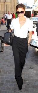 street style Victoria Beckham white shirt