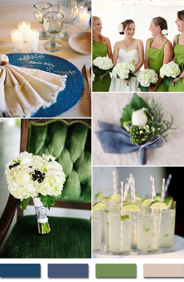 2015-trends-royal-blue-and-kelly-green-wedding-color-palettes